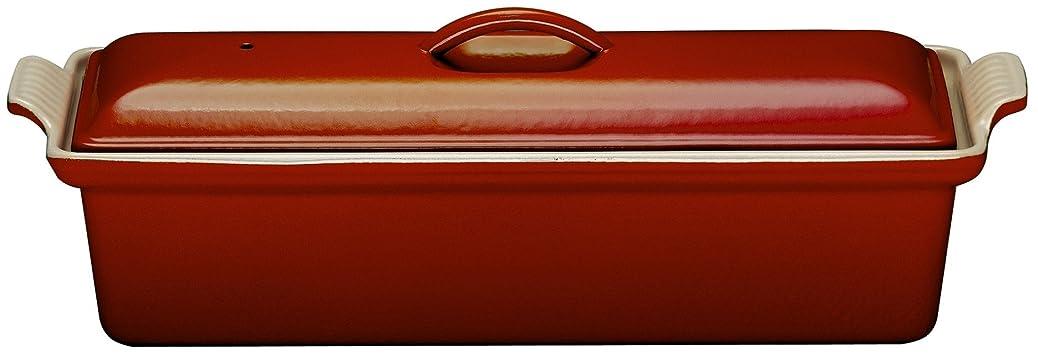 違うり酸度ルクルーゼ テリーヌ レクタ 28cm 鋳物 ホーロー 耐熱容器 チェリーレッド 2524-28-06