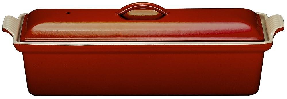 親トリプル例ルクルーゼ テリーヌ レクタ 28cm 鋳物 ホーロー 耐熱容器 チェリーレッド 2524-28-06