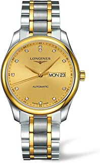 Sponsored Ad - Longines Master Collection L2.755.5.37.7 18k Gold and Stainless Steel Diamond Markers Transparent Case Back...