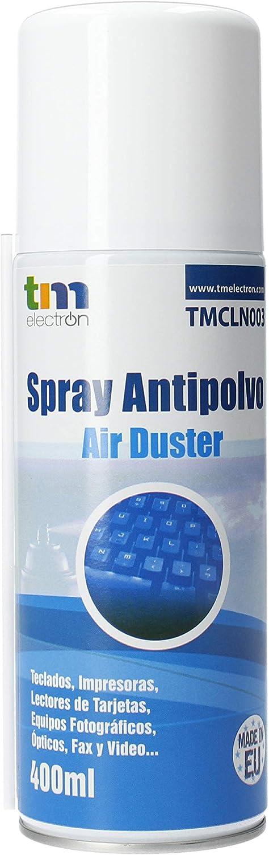 TM Electron TMCLN003 - Limpiador de Gas Aire comprimido para Dispositivos electrónicos, teclados, cámaras, Ordenadores portátiles, Conexiones y Otros, ...