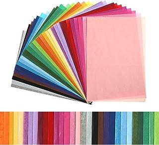 Kesote 300 Feuilles Papier de Soie Coloré - 30 Couleurs, 20 x 29cm pour Loisirs Créatifs et Décoration DIY Papier d'emball...