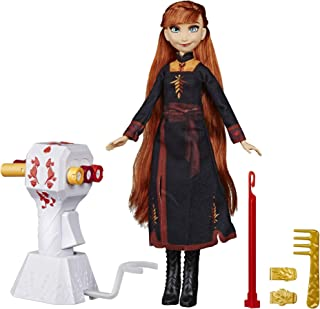 Disney Frozen Sister Styles Anna Fashion Doll with Extra-Long Red Hair, Braiding Tool & Hair Clips - Toy for Kids Ages 5 & Up