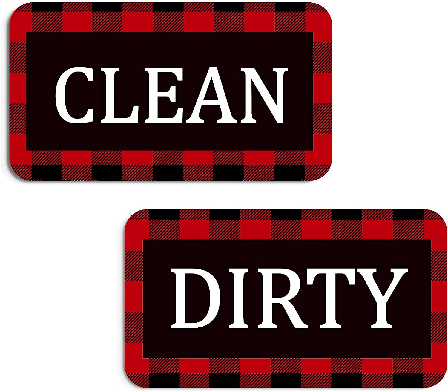 Ranking TOP20 Dishwasher Magnet Rustic Buffalo Plaid Max 43% OFF Dirty Double Clean Sign