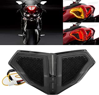 Motorcycle LED Rear Tail Light Smoked LED Taillight Assembly Smoky Lens High Brightness Fit for Ducati 848 1098 1198