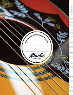 6 String Blank Guitar Tablature Notebook - Acoustic Shine: 100 Pages of Guitar Tab Paper with Chord Spaces & Blank Staffs ...