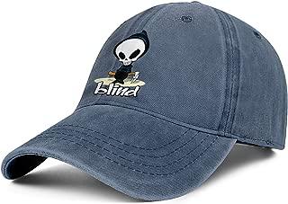 Mens Womens Blind-Skateboards-Logo- Adjustable Vintage Golf Hats Baseball Washed Dad Hat Cap