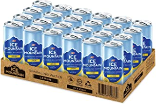 Ice Mountain Sparkling Water Lemon, 325 ml (Pack of 24)