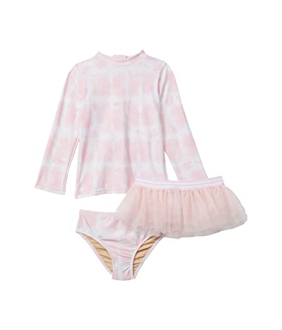 shade critters Tie-Dye Rashguard Set with Tutu (Infant/Toddler) (Pink) Girl