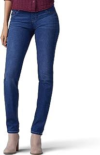 LEE Women`s Size Tall Sculpting Fit Slim Leg Pull on Jean