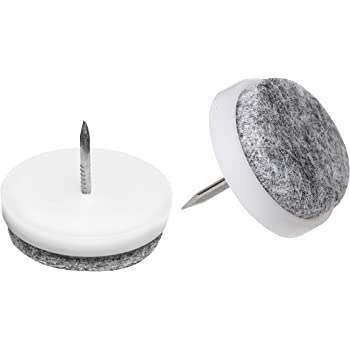 20x Filzgleiter Set mit Nagel 24mm Filz Stuhlgleiter Bodenschutz Gleiter rund