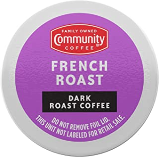Community Coffee French Roast, 72 Count, Extra Dark Roast Single Serve K-Cup Compatible Coffee Pods, Box of 72 Pods