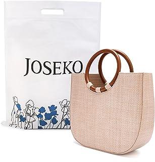 Summer Beach Bag, JOSEKO Womens Straw Handbag Straw Shoulder Bag for Beach Travel and Everyday Use