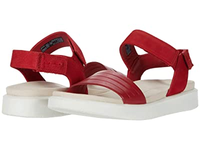 ECCO Flowt Strap Sandal (Chili Red/Chili Red Cow Leather/Cow Nubuck) Women