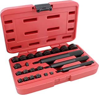 ABN Bushing Driver Set – 23 Pc Wheel Bearing Removal Tool and Bearing Installer Kit Standard SAE Bushing Press Kit