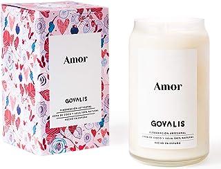 GOVALIS Vela Amor | Perfumadas y Aromáticas | Cera de Soja & Coco 100% Natural – Velas Recuerdos Relajación Decorativas Yo...