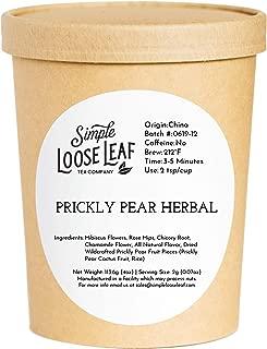 Simple Loose Leaf - Prickly Pear Herbal Tea - Premium Loose Leaf Herbal Tea (4 oz) - Caffeine Free - Sweet and Dry - USA Hand Packaged - 60 Cups