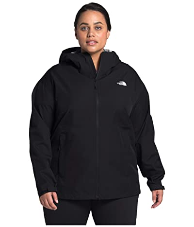The North Face Plus Size Allproof Stretch Jacket (TNF Black) Women