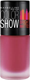Maybelline New York Colour Show Bright Matte Nail Paint, Peppy Pink, 6ml