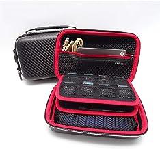 GHKJOK Multi-Function Digital Accessories Storage Bag, 3DSLL/XL Game Machine Package, Eva Mobile Hard Disk U Disk Data Line Power Protection Package,Portable Carbon fiber 3DS Game Bag – Black