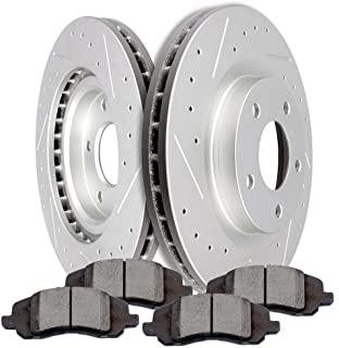 OCPTY Brakes and Rotors Set with 2 Brake Disc Rotots and 4 Ceramic Pads fit for Chrysler 200,Chrysler Sebring,Dodge Caliber,Jeep Compass,Jeep Patriot
