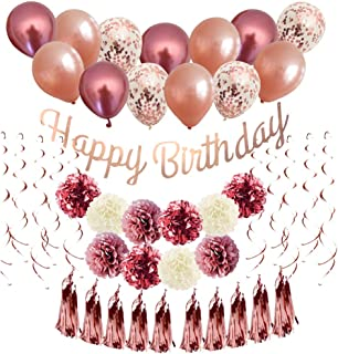 Rose Gold Balloons Birthday Decorations, Bachelorette Decorations Party, Birthday Gifts For Friends Female, Party Supplies...
