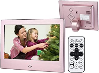 Digital Picture Frame 7 Inch, Digital Photo Frame 1024x600(16:9) High Resolution Display MP3 Video Player Calendar Alarm C...