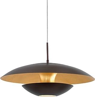 EGLO 95755 A++ to E Lámpara de techo, acero, E27, marrón, dorado, 48 x 48 x 110 cm
