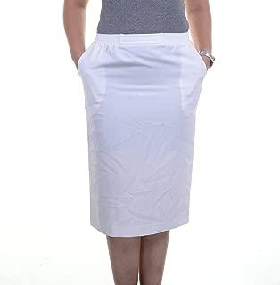 Alfred Dunner White Back Open Skirt Size 8