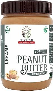 Orient Farm Peanut Butter | Natural | Unsweetened Flavour | Creamy | 340gm | 100% Roasted Peanut | Vegan | gluten Free |34...