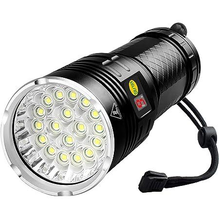 Powerful 60000 Lumen T6 18 LED Wiederaufladbare Taschenlampe Torch Jagd Outdoor