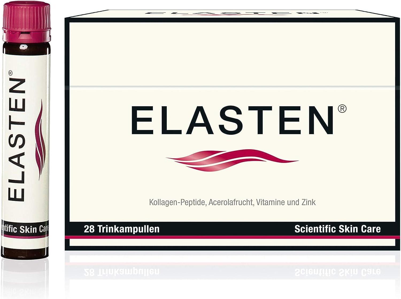 ELASTEN. El colágeno bebible original alemán para una piel bella desde el interior, contra las arrugas y la flacidez, 28 ampollas bebibles a 25ml.