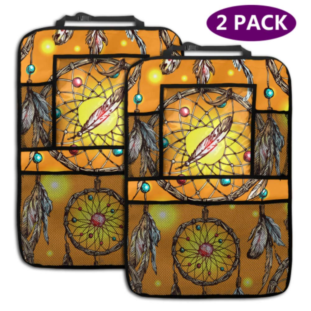 Some reservation 2 Pack Car Backseat Organizer Popular Beautiful S Boho Drawn Hand Vector