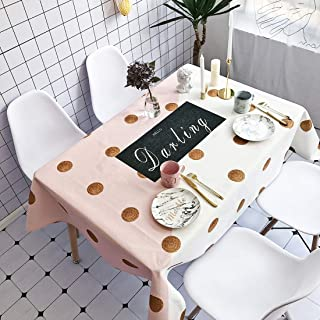 Simple Modern kitchen/home tools Gold Wave Pattern Waterproof Anti-scalding Rectangle Cotton and Linen Table Cloth,Simple ...
