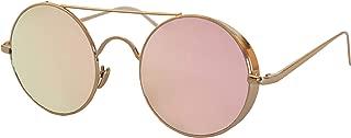 Anca Collection - MELBOURNE - Women Men Unisex Girls Boys Round Pink Gold Fashion Sunglasses Glasses Classic Retro Designer Luxury Frame Alloy Outdoor Leisure Gift Style Sunglasses