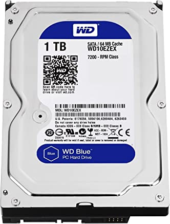 "$43 Get Western Digital(WD) BLUE Deskptop 1TB( 1Terabyte) 3.5""Hard Disk Drive, 5400~7200RPM, SATA3 ( 6.0GB/s), 64MB Cache, IDEAL for PC/Mac/CCTV/NAS/DVR/Raid and SATA Applications, 1YR Warranty (Blue)"
