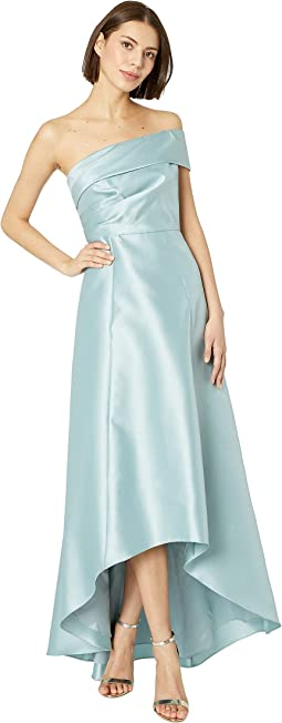Mikado One Shoulder Evening Gown