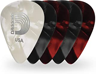 D'Addario Accessories Pearl Celluloid Guitar Picks, 25 Pack, Assorted (1CAPX-25)