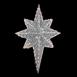 Northlight Lighted White Glittering Mesh 2-D Star of Bethlehem Christmas Yard Art Decoration, 36