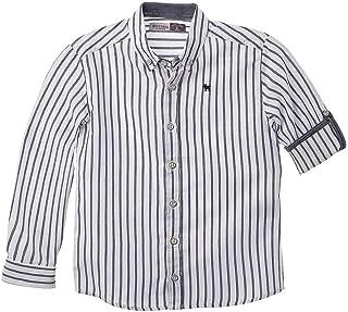 OFFCORSS Boys Long Sleeve Dress Shirts Camisa Manga Larga de Vestir para Niños