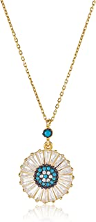 Alwan Silver (Gold Plated) Necklace for Women - EE5317NG