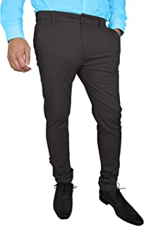 westAce Mens Stretch Skinny Slim Fit Chino Pants Flat Front Casual Super Spandex Trousers