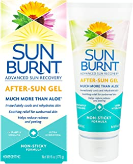 Ultra Hydrating Aloe Vera Gel by SunBurnt, With Natural Organic Aloe Vera + Calendula, Echinacea & Hyaluronic Acid to help soothe, hydrate, cool dry skin, provide soothing sunburn relief, 6 Ounce