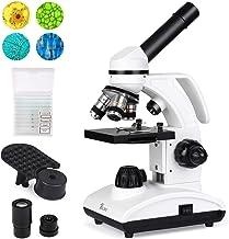 TELMU Microscope 40X-1000X Dual Cordless LED Illumination Lab Compound Monocular Microscopes with Optical Glass Lenses & 1...