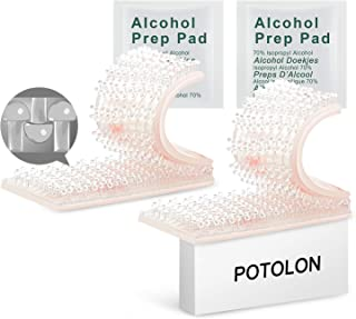 POTOLON EZ Pass Mounting Kit - Dual Lock Tape - 2 Sets of Peel-and-Stick Strips with Alcohol Prep Pad