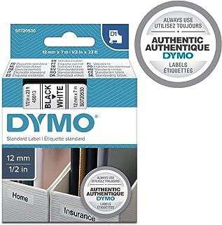 Dymo - D1 胶带 12 毫米 黑色 白色 (5unid)