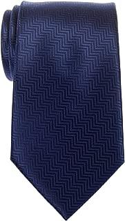 Retreez Zig Zag Striped Textured Woven Microfiber Men's Tie - Various Colors