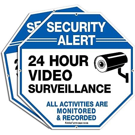 "10-Pack ""Video Surveillance in Operation"" Vinyl Decal Sticker for Biz Car Home"