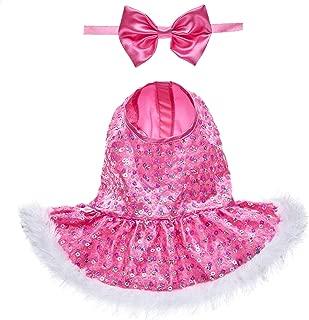 Build A Bear Workshop Pink Sequin Reindeer Dress & Bow Set 2 pc.