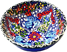 Turkish Ceramics~Hand Painted Ceramic Bowl-5 inch-navy