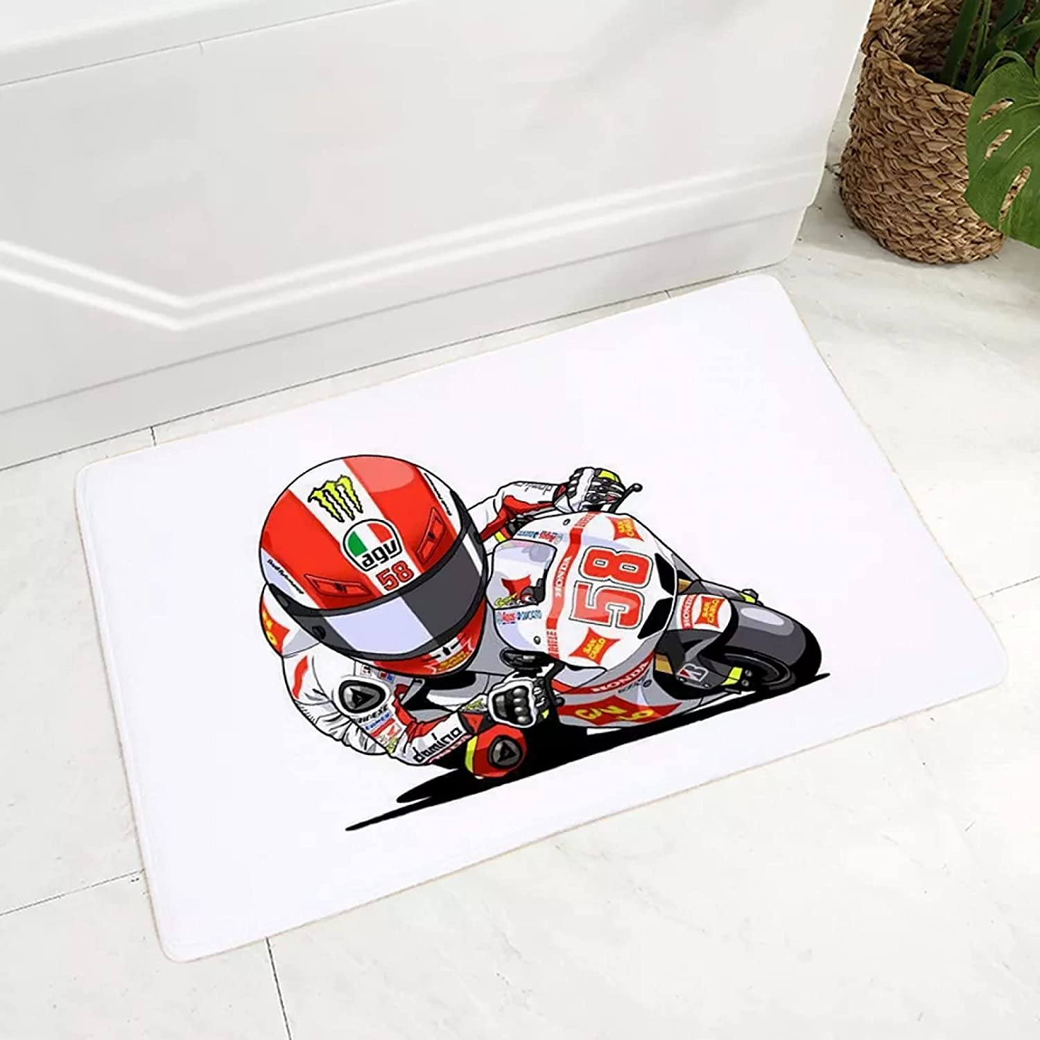 Soft Flannel Carpet Cartoon Sport Mat Motorcycle for Child Max 63% OFF Floor Special price
